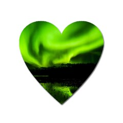 Aurora Borealis Northern Lights Sky Heart Magnet by Sudhe