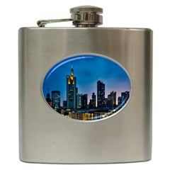 Frankfurt Germany Panorama City Hip Flask (6 Oz)