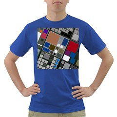 Abstract Composition Dark T Shirt