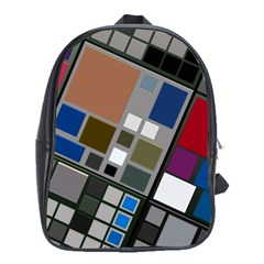 Abstract Composition School Bag (large) by Sudhe