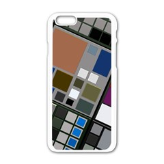 Abstract Composition Iphone 6/6s White Enamel Case