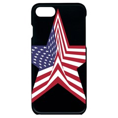 A Star With An American Flag Pattern Iphone 7/8 Black Frosting Case