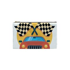 Automobile Car Checkered Drive Cosmetic Bag (small)