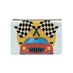 Automobile Car Checkered Drive Cosmetic Bag (medium)
