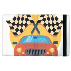 Automobile Car Checkered Drive Apple Ipad 2 Flip Case by Sudhe