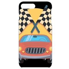 Automobile Car Checkered Drive Iphone 7/8 Plus Black Frosting Case
