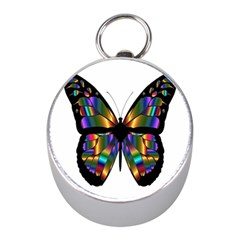 Abstract Animal Art Butterfly Mini Silver Compasses