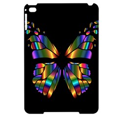 Abstract Animal Art Butterfly Apple Ipad Mini 4 Black Frosting Case
