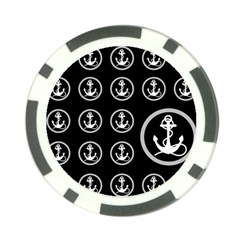 Anchor Pattern Poker Chip Card Guard
