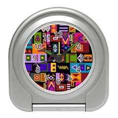 Abstract A Colorful Modern Illustration Travel Alarm Clock