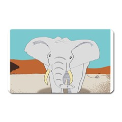 Africa Elephant Animals Animal Magnet (rectangular) by Sudhe