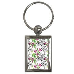 Drawing Flowers Key Chains (rectangle)