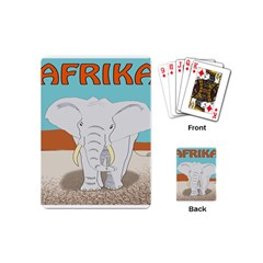 Africa Elephant Animals Animal Playing Cards (mini)
