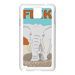 Africa Elephant Animals Animal Samsung Galaxy Note 3 N9005 Case (white)