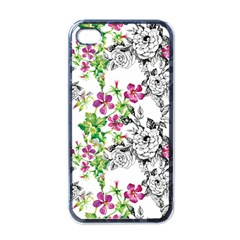 Drawing Flowers Iphone 4 Case (black)
