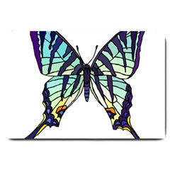 A Colorful Butterfly Large Doormat  by Sudhe