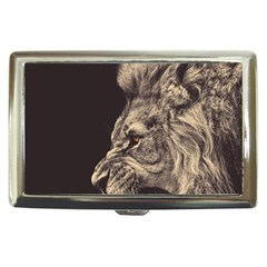 Angry Male Lion Cigarette Money Case