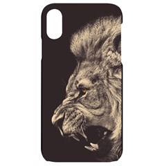 Angry Male Lion Iphone Xr Black Frosting Case