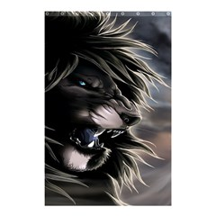 Angry Lion Digital Art Hd Shower Curtain 48  X 72  (small)