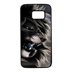 Angry Lion Digital Art Hd Samsung Galaxy S7 Black Seamless Case