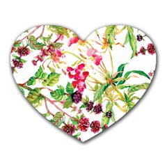 Painting Flowers Heart Mousepads by goljakoff