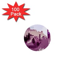 Abstract Painting Edinburgh Capital Of Scotland 1  Mini Buttons (100 Pack)
