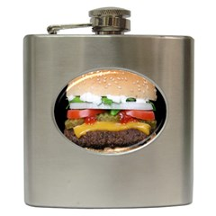 Abstract Barbeque Bbq Beauty Beef Hip Flask (6 Oz)