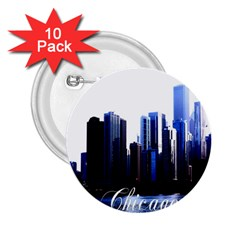 Abstract Of Downtown Chicago Effects 2 25  Buttons (10 Pack)  by Sudhe