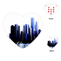 Abstract Of Downtown Chicago Effects Playing Cards (heart) by Sudhe