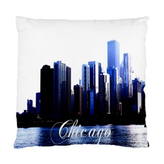 Abstract Of Downtown Chicago Effects Standard Cushion Case (one Side)