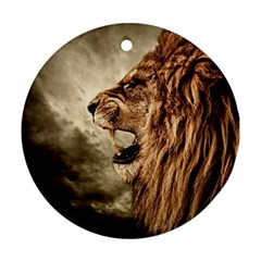 Roaring Lion Round Ornament (two Sides)