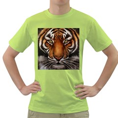 The Tiger Face Green T Shirt