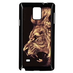 Angry Male Lion Gold Samsung Galaxy Note 4 Case (black)