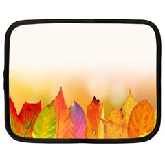 Autumn Leaves Colorful Fall Foliage Netbook Case (xl)