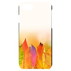 Autumn Leaves Colorful Fall Foliage Iphone 7/8 Black Frosting Case by Sudhe