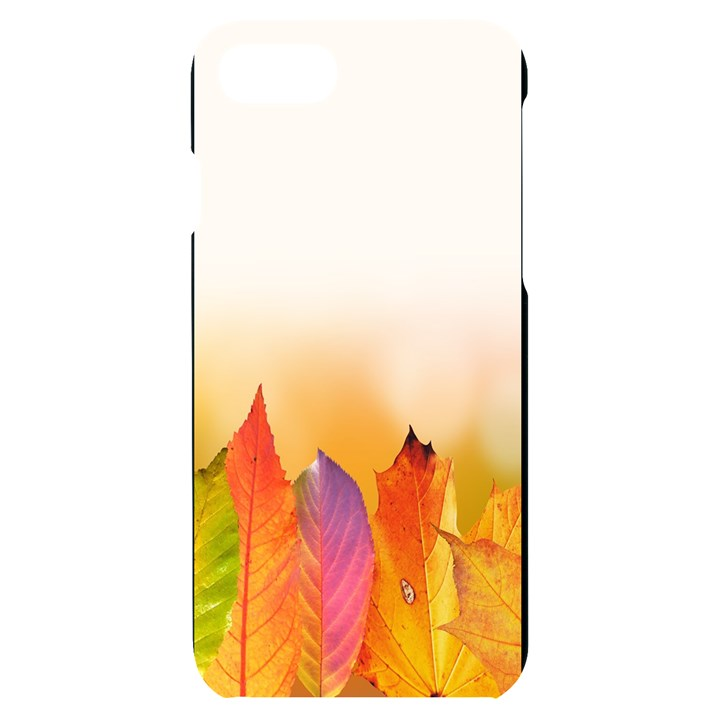 Autumn Leaves Colorful Fall Foliage iPhone 7/8 Black Frosting Case