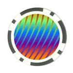 Abstract Fractal Multicolored Background Poker Chip Card Guard (10 pack) Front