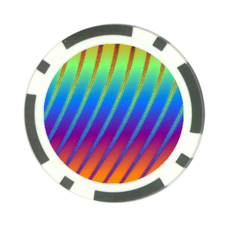 Abstract Fractal Multicolored Background Poker Chip Card Guard (10 pack)