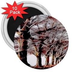 Autumn Fractal Forest Background 3  Magnets (10 Pack)