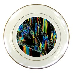 Abstract 3d Blender Colorful Porcelain Plates