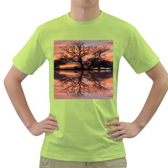 Aurora Sunset Sun Landscape Green T Shirt