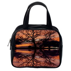 Aurora Sunset Sun Landscape Classic Handbag (one Side)