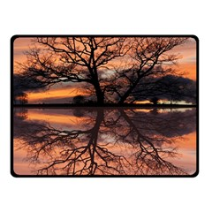 Aurora Sunset Sun Landscape Double Sided Fleece Blanket (small)