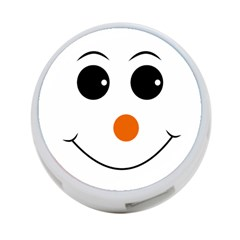 Happy Face With Orange Nose Vector File 4 Port Usb Hub (one Side)