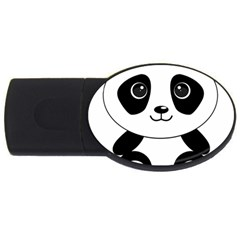 Bear Panda Bear Panda Animals Usb Flash Drive Oval (2 Gb) by Sudhe