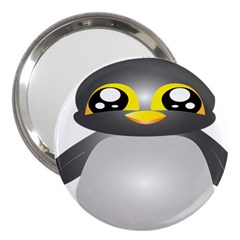 Cute Penguin Animal 3  Handbag Mirrors