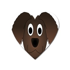 Dog Pup Animal Canine Brown Pet Heart Magnet