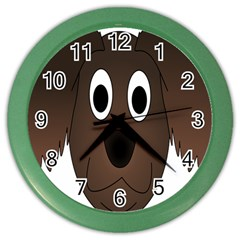 Dog Pup Animal Canine Brown Pet Color Wall Clock
