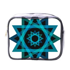 Transparent Triangles Mini Toiletries Bag (one Side) by Sudhe