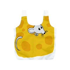 Rat Mouse Cheese Animal Mammal Full Print Recycle Bag (s)